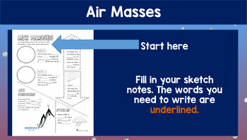 Air Masses Doodle Notes {Works towards MS-ESS2-5}