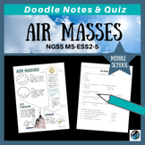 Air Masses Doodle Notes & Quiz {Works towards MS-ESS2-5}