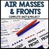 Air Masses Fronts and Weather Maps Complete Unit