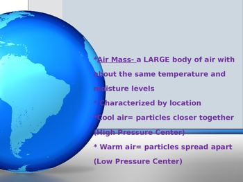 Air Masses Notes Powerpoint