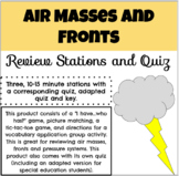 Air Masses Review Stations and Quiz