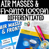 Air Masses & Weather Fronts Reading Activity