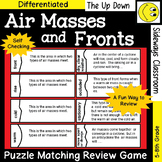 Air Masses and Fronts Puzzle Matching Review Game