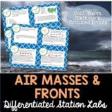 Air Masses and Fronts Student-Led Station Lab - Distance Learning
