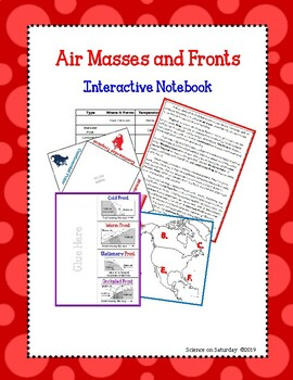 Air Masses and Fronts Interactive Notebook