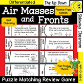 Air Masses and Fronts Puzzle Matching Review Game- Frankie Frog Edition