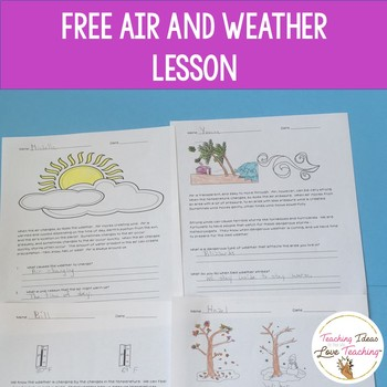 Air and Weather Free Lesson