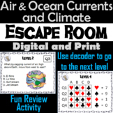 Air & Ocean Currents and Climate Activity: Earth Science Escape Room Review