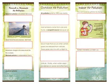 Air Pollution - Brochure Project - Rubric and Examples