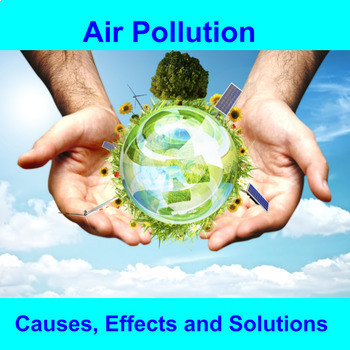 Air Pollution - Lesson, Review, Puzzle and Project (Free - Please Review)