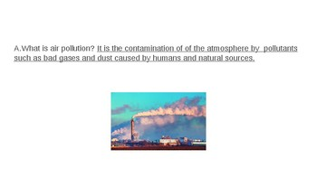 Air Pollution PowerPoint with Notes Activity