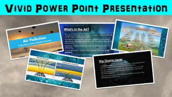 Air Pollution Lesson with Power Point, Worksheet, and Review Page