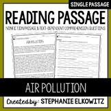 Air Pollution Reading Passage