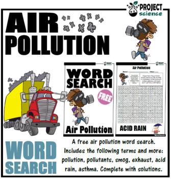 Air Pollution Word Search