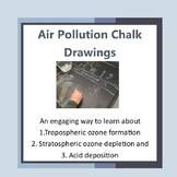 Air Pollution and Ozone Thinning Chalk Drawings
