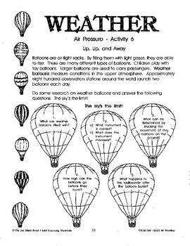 Air Pressure Activities Grades 4-6