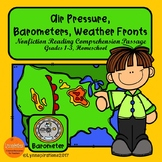Air Pressure, Barometers, and Weather Fronts Reading Comprehension