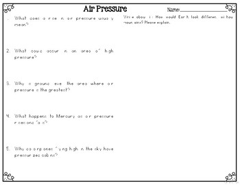 Air Pressure Informational & Nonfiction Text & Comprehension