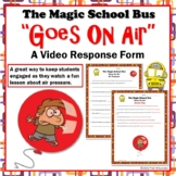 "Air Pressure Magic School Bus ""Goes On Air"" Video Response Worksheet"