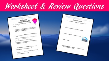 Air Pressure Lesson with Power Point, Worksheet, and Review Page