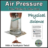 Air Pressure: Water in Cup with Toothpicks
