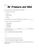 Air Pressure and Wind Study Jams
