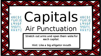 Air Punctuation Slides / Task Cards