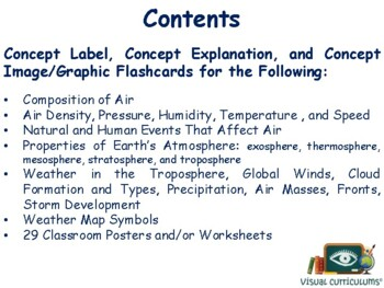 Air & The Weather Flashcards - task cards, study guide, state exam prep