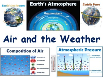 Air & The Weather Lesson & Flashcards - task cards, study guide, state exam prep