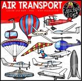 Air Transport Clip Art Set {Educlips Clipart}