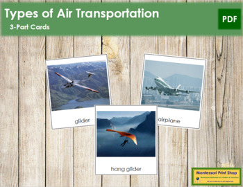 Air Transportation: 3-Part Cards