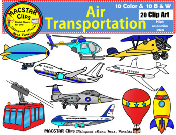 Air Transportation Clip Art Transportation Personal and Co