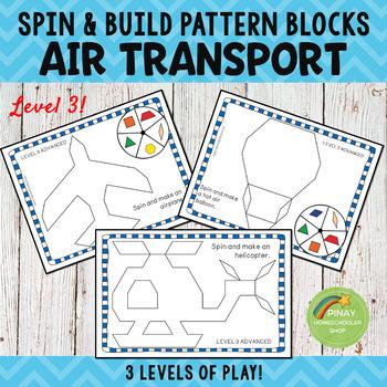 Air Transportation Pattern Blocks Spin and Build