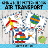 Air Transportation Pattern Blocks Spin and Build