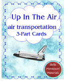 Air Transportation - Up In The Air - Montessori 3-Part Cards