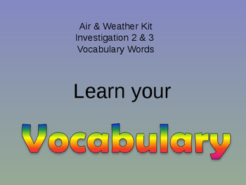 Air & Weather Kit Investigation's 2 and 3