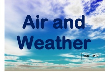 NGSS Air & Weather Vocab Cards