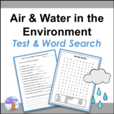 Air and Water in the Environment Test & Word Search (Grade 2)