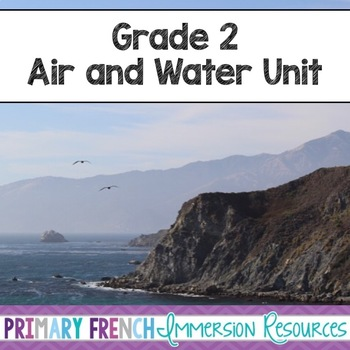 Air and Water unit - flashcards, word wall words, activiti