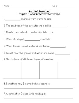 Air and Weather Comprehension FOSS