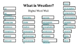 Air and Weather Digital Word Wall