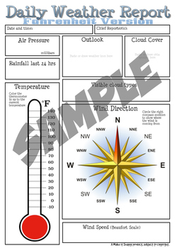 Air and Weather - Full Science Unit! Activities, Worksheets and Teacher Notes