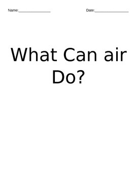 Air and water: primary science
