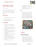 Air dry clay recipe with activities and learning opportuni