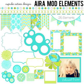 Aira Mod Spring  Digital Clip Art Set