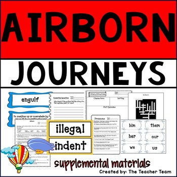 Airborn Journeys 6th Grade Unit 3 Lesson 12 Activities and Printables