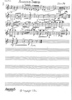 Airborn Sand for Solo Flute - College Level