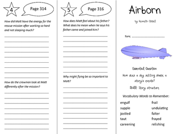 Airborn Trifold - Journeys 6th Grade Unit 3 Week 2 (2011)