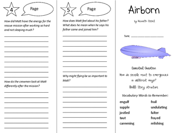 Airborn Trifold - Journeys 6th Grade Unit 3 Week 2 (2014, 2017)