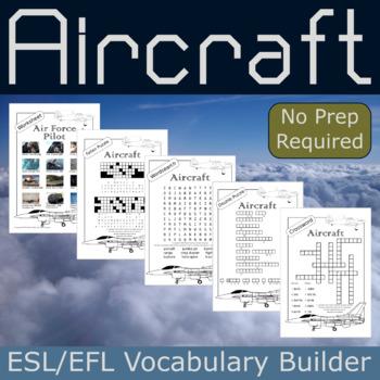 Aircraft ESL / EFL Vocabulary Builder - English+Chinese